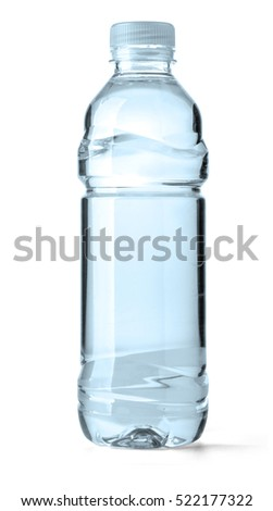 plastic bottle of water isolated on a white background with clipping path