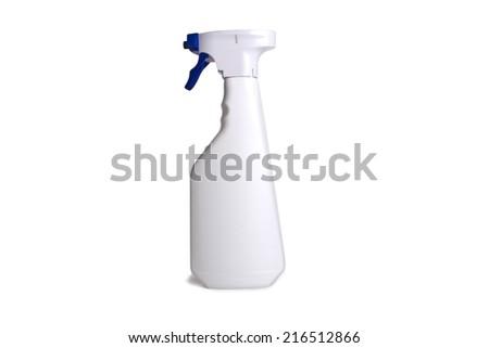 Plastic Bottle pump on white background - stock photo
