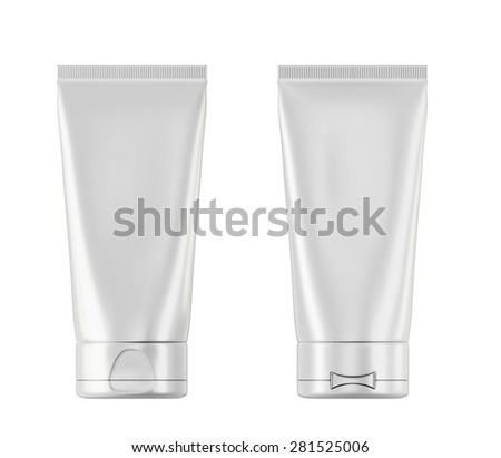 Plastic bottle with Aftershave with two sides isolated on white background. 3d illustration.