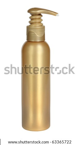 Plastic bottle with the pump - stock photo