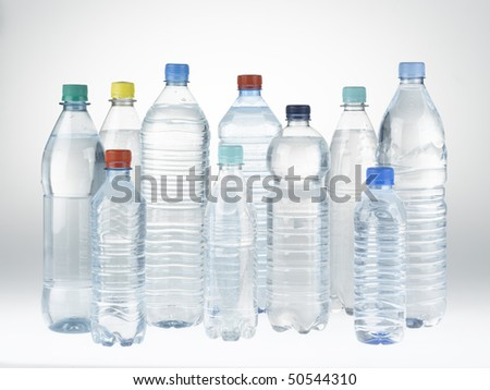 Plastic Bottles of Mineral Water - stock photo