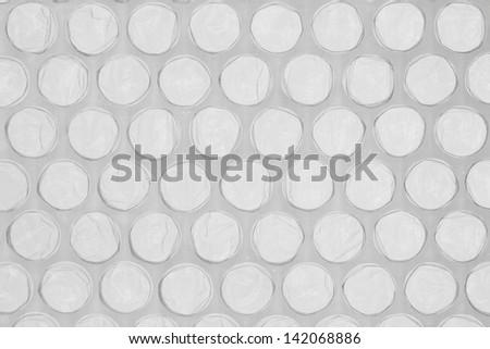 Plastic bubble wrap. Close up texture. - stock photo