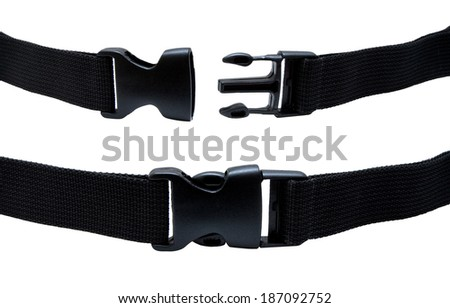 Plastic buckle isolated - stock photo