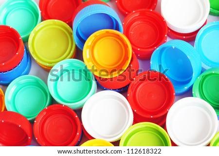 Plastic Caps of the bottle - stock photo