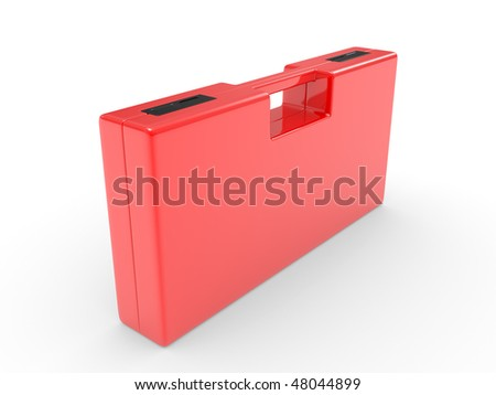 Plastic case for tools on a white background