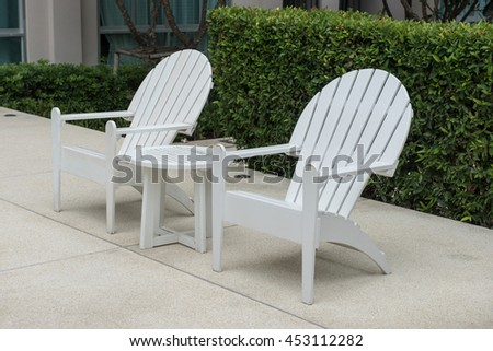 plastic chair on swimming pool side with garden in outdoor design  Image of white  plastic. Plastic Garden Table Stock Images  Royalty Free Images   Vectors