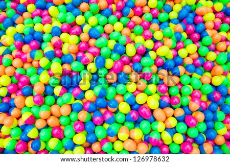 Plastic color ball - stock photo