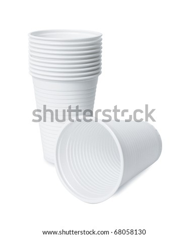 Plastic cup - stock photo