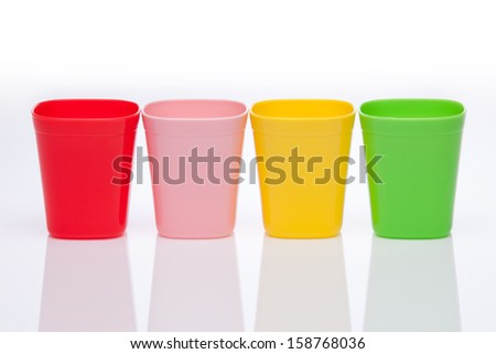 Plastic Cups - stock photo