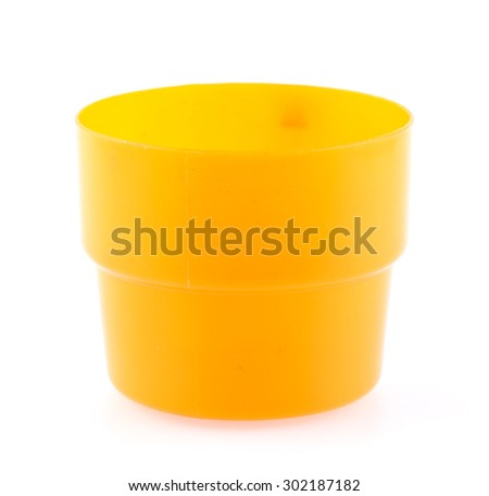 plastic cups isolated on a white background