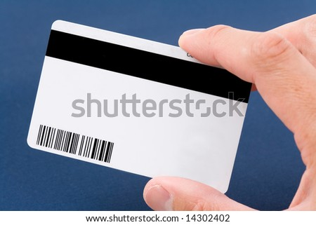 Plastic Digital Data Card close up