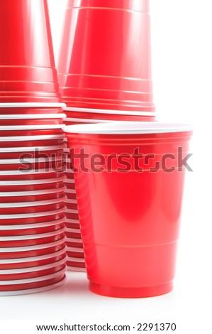 Plastic Drinking Cups - stock photo