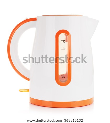 Plastic Electric Kettle - stock photo