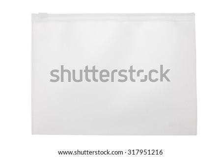 Plastic file bag - stock photo