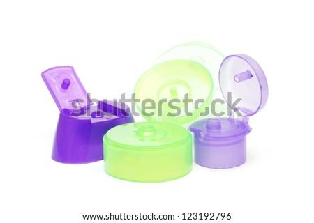 plastic flip top lid - stock photo