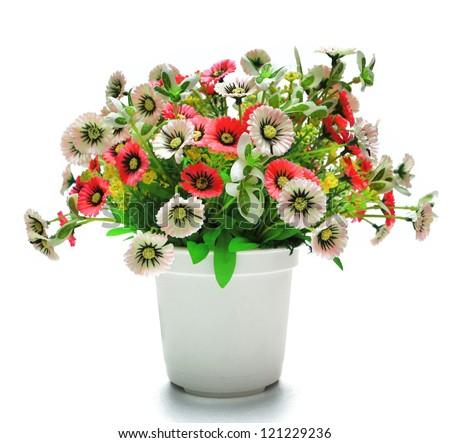 Plastic flowerpot - stock photo