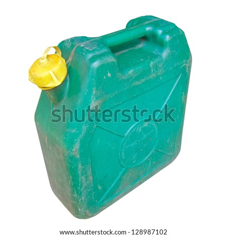Plastic fuel tank isolated over a white background