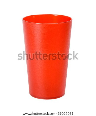 plastic glass - stock photo