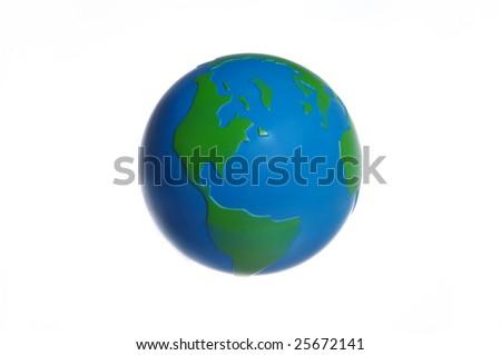 plastic globe - stock photo