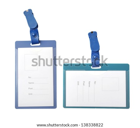 Plastic ID cards - stock photo