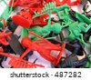plastic indians toys - stock photo