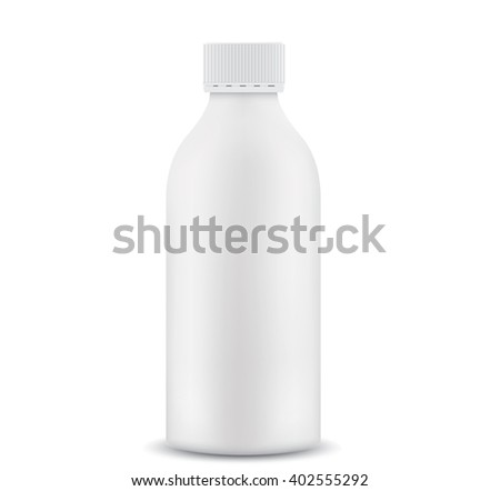 Plastic 1 liter bottle closed. 3D - stock photo