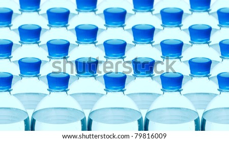 plastic mineral water bottle background