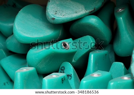 Plastic pads used for making shoes. - stock photo