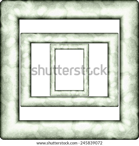 Plastic picture frame generated isolated texture