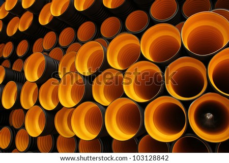 plastic pipe - stock photo