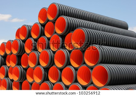 Plastic Pipe - stock photo