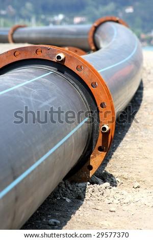 plastic pipeline - stock photo