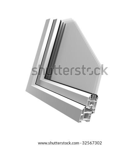 Plastic profile for windows - stock photo