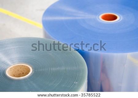 Plastic Roll For Packaging Machine - stock photo
