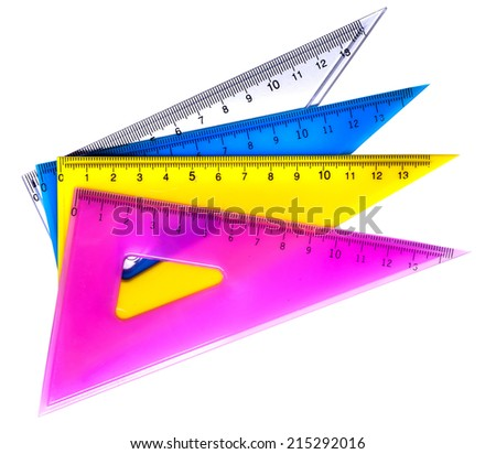 Plastic rulers for mathematics in school and homework