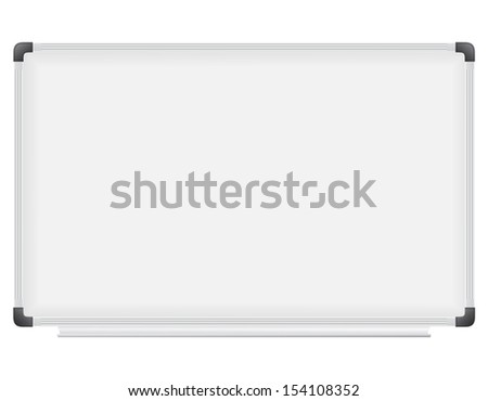 plastic school board for writing marker illustration isolated on white background