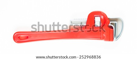 Plastic straight pipe wrench  - stock photo
