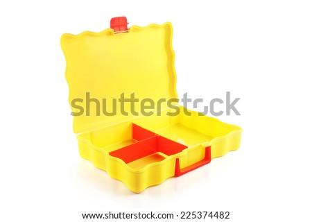 Plastic suitcase - stock photo