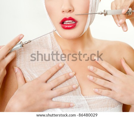 Plastic Surgery Concept - stock photo