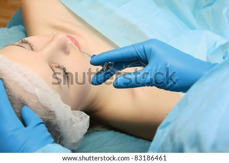 Plastic surgery. From above - stock photo