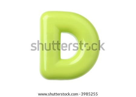 Plastic Toy Letter D - stock photo