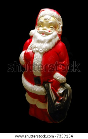 Plastic vintage santa - stock photo