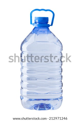plastic water bottle isolated on white - stock photo