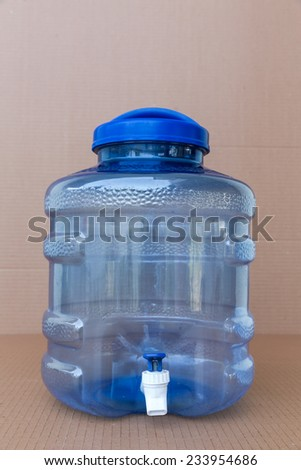 Plastic water container - stock photo