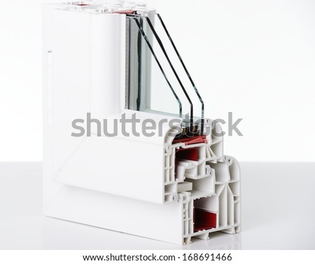 Plastic window profile - stock photo