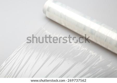 Plastic, wrap, film. - stock photo