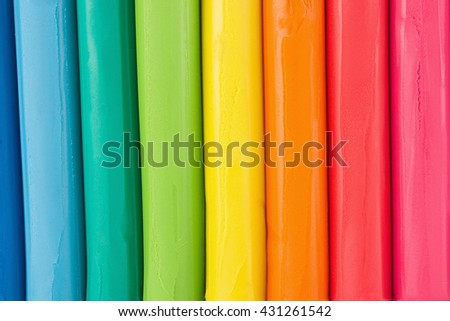 Plasticine close up isolated on white background.