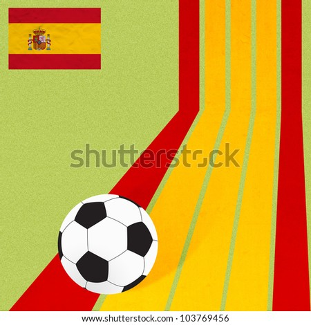 Plasticine flag football soccer on colorful line background