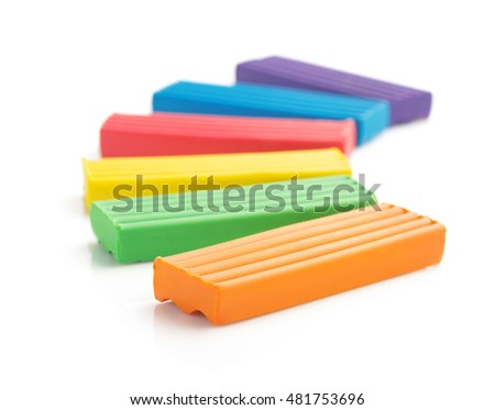 plasticine set isolated on white background