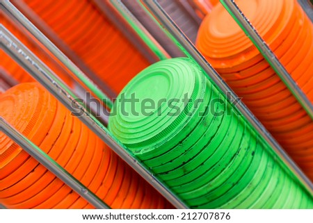 plat machine for shooting-ground training and sportong - stock photo